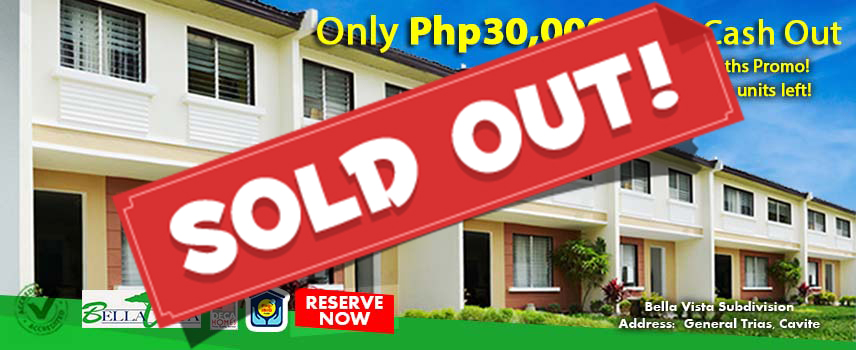 Bella Vista Townhouse - Pag-ibig Rent to Own Houses for Sale in General Trias Cavite