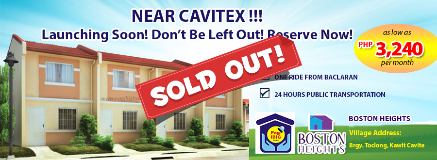 Boston Heights Townhouse - Pag-ibig Rent to Own Houses for Sale in Kawit Cavite