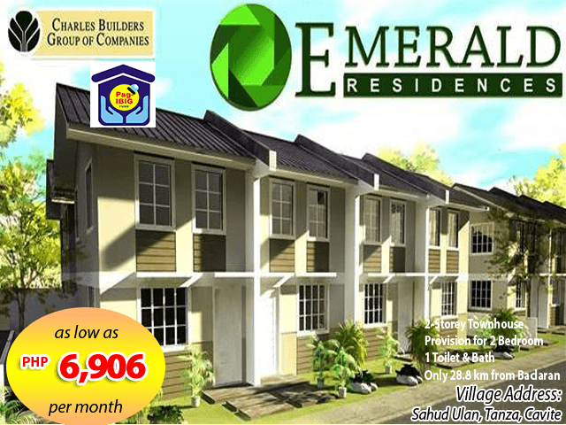 Emerald Residences - Pag-ibig Rent to Own Houses for Sale in