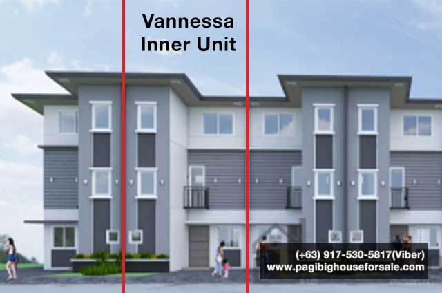 The Garden Villas Tanza Vannessa Townhouse Inner - Pag-ibig Rent to Own Houses for Sale in Tanza Cavite