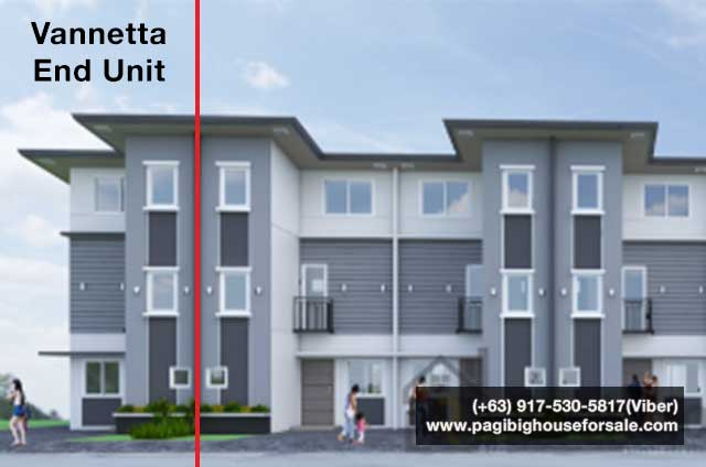 The Garden Villas Tanza Vannetta Townhouse End - Pag-ibig Rent to Own Houses for Sale in Tanza Cavite