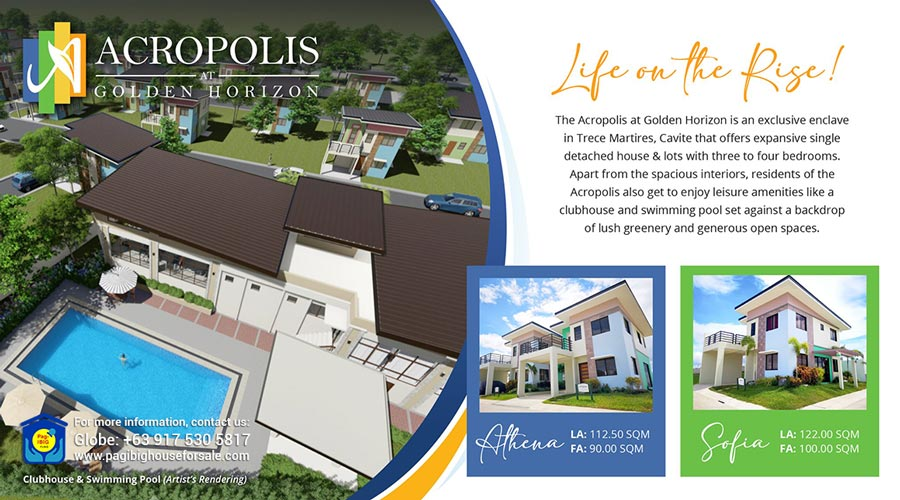 Acropolis at Golden Horizon – Pag-ibig Rent to Own Houses for Sale in Trece Martires Cavite